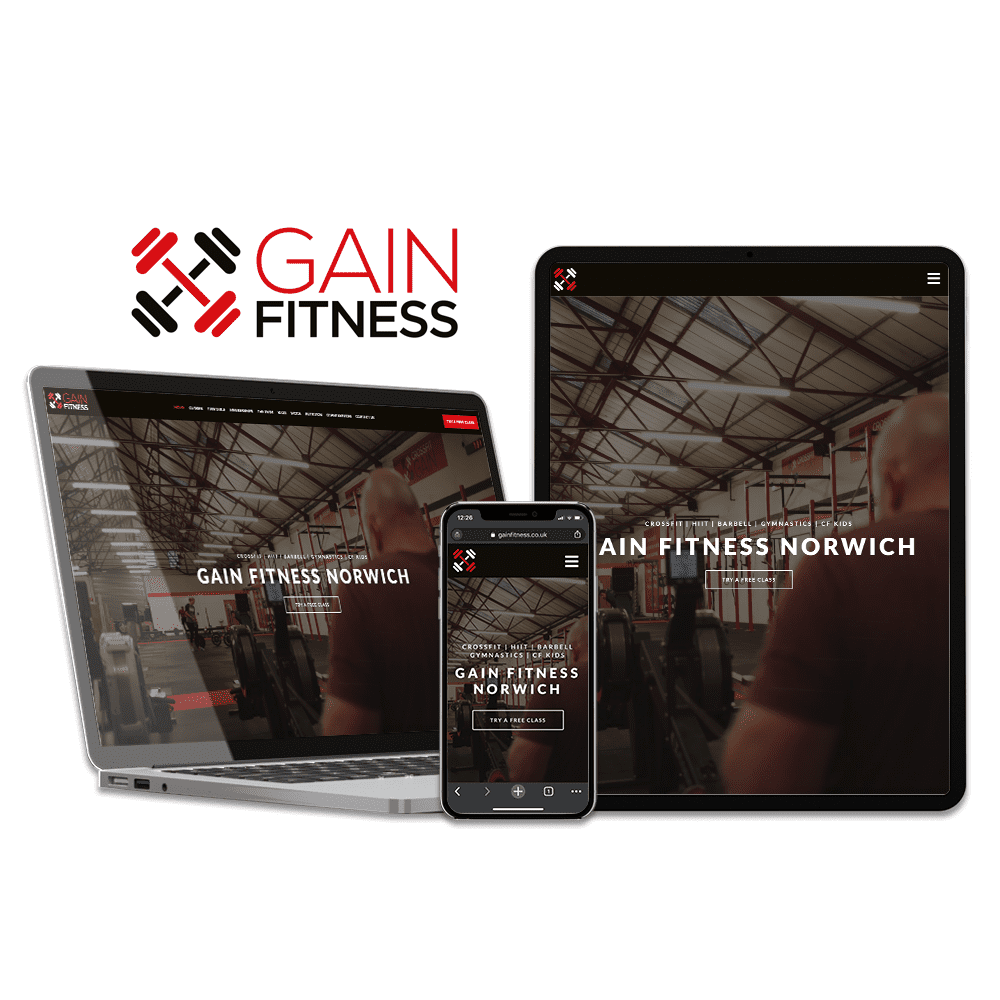 GAIN Fitness Website